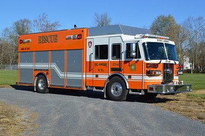 An officers view of Ft. Ashby's Squad 37-40, a 2001 Sutphen/SVI.