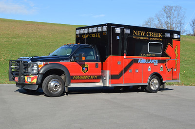 Ambulance 38-71, a 2012 Ford F450/LifeLine from New Creek, WV