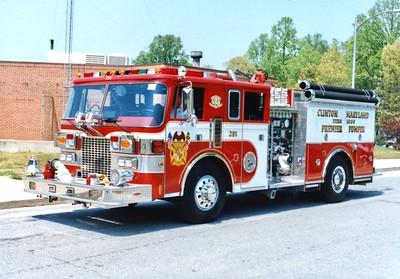 Clinton's former Engine 251, a 1986 Pierce Lance/2004 Pierce, 2000/500, sn- E3194.  Sold to New Creek, West Virginia.