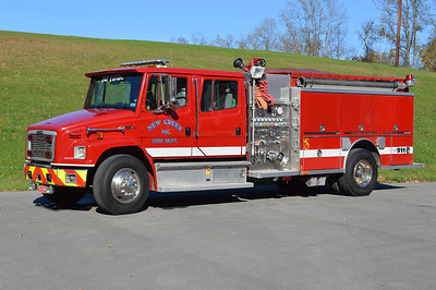 "Engine - Tanker 38 from New Creek is this 2000 Freightliner 80/Central States ""FireLine"" model.  1250/1250 with serial number 79334 and a 10"" rear dump.  Sold to Blacksville, WV in 2017."