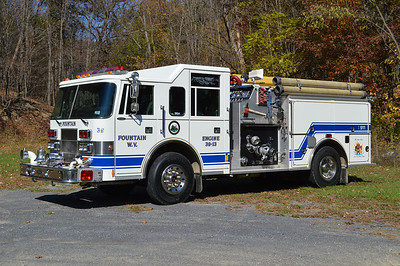 Fountain, WV Engine 39, a 1994 Pierce Saber 1250/750 with job number E8671.