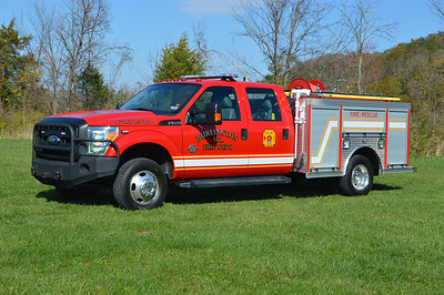 Burlington, WV Attack 44 - a 2011 Ford F350/Rosenbauer/CET Skid 100/250