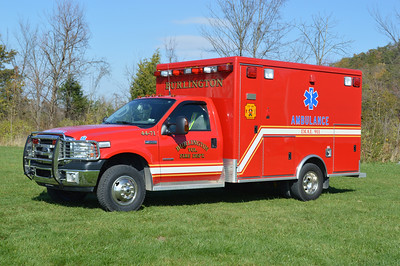 Burlington, WV Ambulance 44-71, a 2006 Ford F350/McCoy Miller.