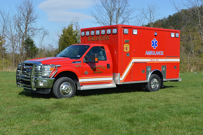 Ambulance 44-70 from Burlington, a 2013 Ford F350/McCoy Miller.