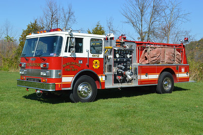 Burlington once operated this nice 1990 Pierce Dash D-8000 as their Engine-Tanker 44.  1000/1000 with job number E5726.