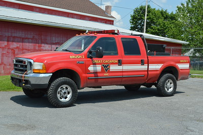 Great Cacapon placed their new Brush 2 into service during 2016.  This is a 1999 Ford F350 with a skid unit purchased by Great Cacapon equipped with a 200/150.  The Ford was previously Utility 5 from the Hancock, Maryland Fire Department.