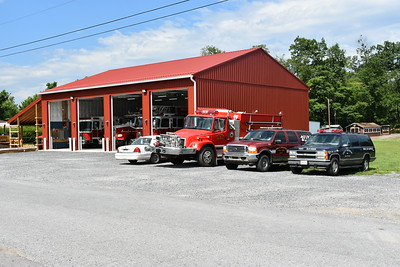 After completing this garage after the July 2016 station fire, the decision was made by Great Cacapon members to not rebuild on the site where the original fire station was built and instead build additions to the four bay facility.  Plans are to add a bay on the left side, two bays on the right, and additional room for offices, meeting/training room, gear room, kitchen, and sleeping quarters.  When complete (estimated in fall/winter of 2017), the station will have 7 bays and approximately 10,000 square feet.