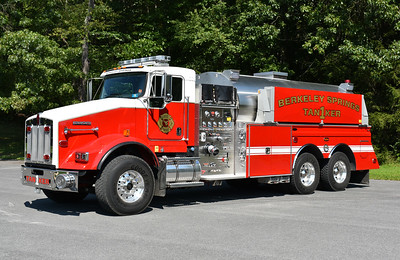 Berkeley Springs, West Virginia - Morgan County Tanker 1.  A 2017 Kenworth T-800/4-Guys with a 1250/3000 and serial number F-3088.  This replaced a 1987 GMC Brigadier/American Eagle front mount 1250/1500 which was damaged in an accident in 2016.