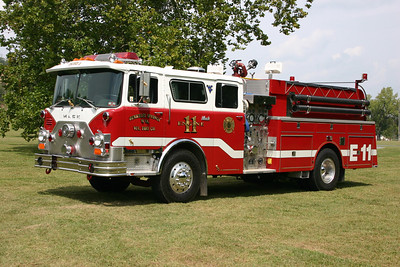 Engine 11 from Berkeley Springs, WV - 1980 Mack CF686F10/1996 Interstate.  1000/1000.  Mack Serial number 1392.  Interstate enclosed the cab.