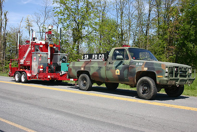 Brush 3-62 from South Morgan, a 1986 Chevrolet K30/2011 FD 120/270.  Ex- WV Forestry.  With Communications trailer - 2005 FD built.