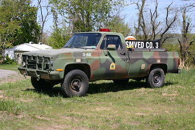 Brush 3-62 from South Morgan, a 1986 Chevrolet K30/2011 FD 120/270.  Ex- WV Forestry.