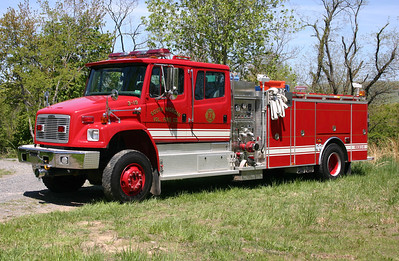Rescue Engine 3-19 from South Morgan, WV, a 2003 Freightliner 80 4x4/4-Guys with a 1000/500.  Serial number F2189-R.  Ex- Attack 3 for South Morgan.