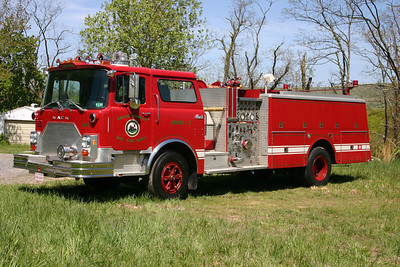 South Morgan, WV - old Engine 3.  A 1981 Mack CF686F15  1500/750 with serial number 1426.  Ex- Eggertsville, NY painted lime green.  South Morgan received in 1994.  Sold approximately 2013 to collector in Virginia.