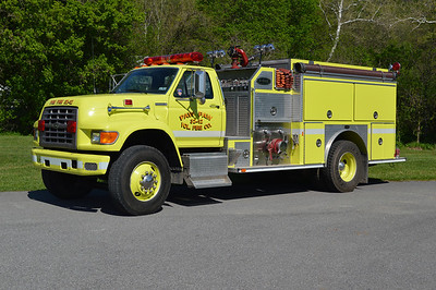 Paw Paw, West Virginia Engine 32, a 1994 Ford F/E-One with a top mount 1250/1000.  Serial number 14085.