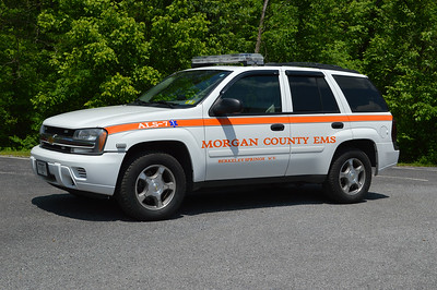 ALS 7, a 2007 Chevy Trail Blazer, is primarily used as a Utility unit for EMS Station 7 in Morgan County, WV.
