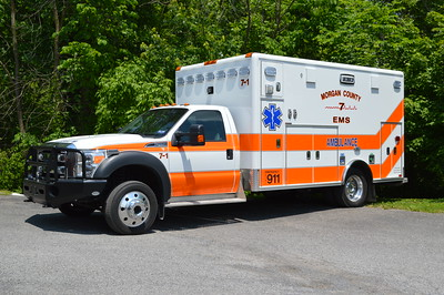 Morgan County EMS - 7-1 is a 2015 Ford F450 built by Horton.