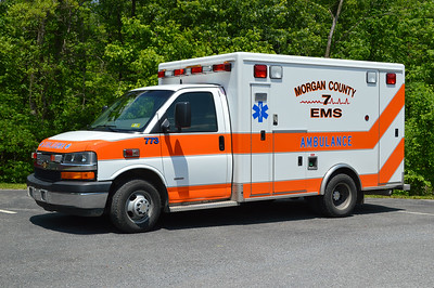 7-3 (old 773) from Morgan County EMS is a 2007 Chevrolet/McCoy Miller that was originally a demo ambulance for McCoy Miller.