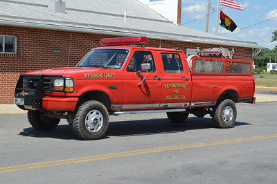 Attack 496 carries 250 gallons of water and is a 1992 Ford F350 with a Custom Composites skid.  Petersburg operates this truck primarily as a brush unit.