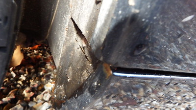 Lower arch sills showing signs of rust