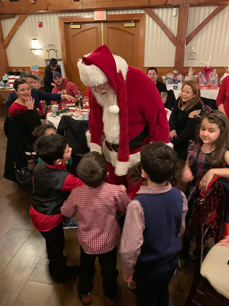 Santa chats with his fans.