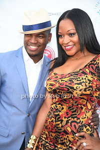 Ne-Yo and  Monyetta Shaw attend  the 2012 Compound Foundation Fostering A Legacy Benefit honoring George Lucas at a private residence in East Hampton.(July 14, 2012) Rob Rich/SocietyAllure.com