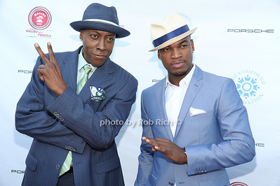 Arsenio Hall and Ne-Yo attend  the 2012 Compound Foundation Fostering A Legacy Benefit honoring George Lucas at a private residence in East Hampton.(July 14, 2012) Rob Rich/SocietyAllure.com