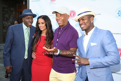 Arsenio Hall, Rocsi Diaz, Russell Simmons, and Ne-Yo attend  the 2012 Compound Foundation Fostering A Legacy Benefit honoring George Lucas at a private residence in East Hampton.(July 14, 2012) Rob Rich/SocietyAllure.com