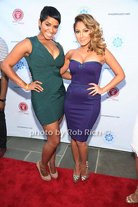 RaVaughn Brown and Adrienne Bailon attend  the 2012 Compound Foundation Fostering A Legacy Benefit honoring George Lucas at a private residence in East Hampton.(July 14, 2012) Rob Rich/SocietyAllure.com