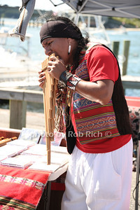 Pan flautist at the 2012 Harborfest in Sag Harbor on September 15, 2012. photo credit:Rob Rich/SocietyAllure.com