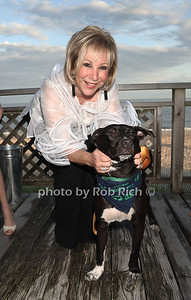 Honoree Candy Udell and rescue dog