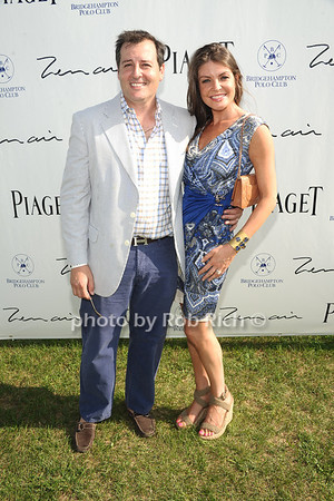 Steven Knoble and Nicole Noonan attend Week 3 of the Bridgehampton Polo Challenge at Two Trees Farm in Bridgehampton. (August 4, 2012) Rob Rich/SocietyAllure.com