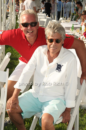 John Darrah and Neil Hirsch attend Week 3 of the Bridgehampton Polo Challenge at Two Trees Farm in Bridgehampton. (August 4, 2012) Rob Rich/SocietyAllure.com
