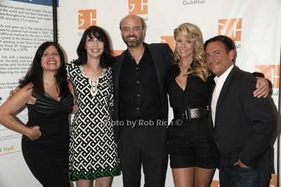 "Dayle Reyfel, Illeana Douglas, Scott Adsik, Christie Brinkley, and Eugene Pack attend ""Celebrity Autobiography"" at Guild Hall in East Hampton. (August 24, 2012) photo credit: Rob Rich/SocietyAllure.com"
