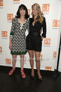 "Illeana Douglas and Christie Brinkley attend ""Celebrity Autobiography"" at Guild Hall in East Hampton. (August 24, 2012) photo credit: Rob Rich/SocietyAllure.com"