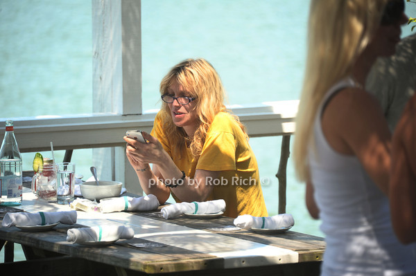 Courtney Love enjoys brunch at the Surf Lodge in Montauk. (July 8, 2012)<br /> photo by Rob Rich/SocietyAllure.com