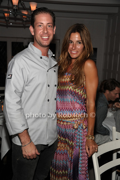 Chef Seth Greenberg and Kelly Bensimon attend Georgica <br /> in Wainscott.  (July 14, 2012)<br /> Rob Rich/SocietyAllure.com