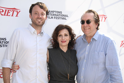 David Nugent, Lena Todd, and Steven Gaydos attend the Breakthrough Performers Panel discussion at the Presbyterian Church in East Hampton. photo credit: Rob Rich/SocietyAllure.com