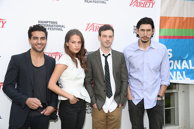 Elyas M'Barek, Alicia Vikander,Scoot McNairy, and Adam Driver attend  the Breakthrough Performers Panel discussion at the Presbyterian Church in East Hampton. photo credit: Rob Rich/SocietyAllure.com