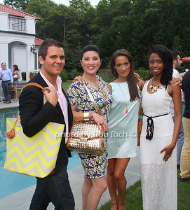 Min Romano, Nick Kane with Brahmin bags, Ande Sedwick, Courtanie Sanders photo by M.Buchanan for Rob Rich© 2012 robwayne1@aol.com 516-676-3939
