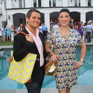 Min Romano, Nick Kane with Brahmin bags photo by M.Buchanan for Rob Rich© 2012 robwayne1@aol.com 516-676-3939