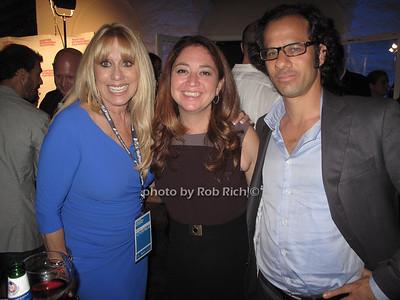 Caroline Lieberman, Liz Garbus, and Dan Kogan attend the HIFF opening reception at East Hampton Pointe in East Hampton on October4, 2012. photo by Rob Rich/SocietyAllure.com