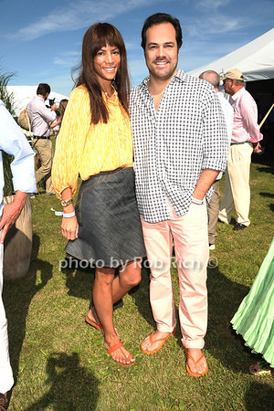 Veronica Webb and Chris Del Gatto attends opening day of Bridgehampton Polo at Two Trees Farm in Bridgehampton. (July 21, 2012) Rob Rich/SocietyAllure.com