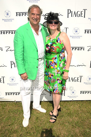 Broadway Producers Stewart Lane and Bonnie Comley attend opening day of Bridgehampton Polo at Two Trees Farm in Bridgehampton. (July 21, 2012) Rob Rich/SocietyAllure.com