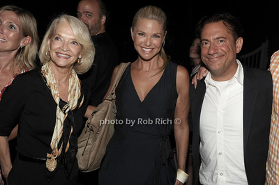 Ruth Applebaum, Christie Brinkley, and Eugene Pack attend a reading of Columbus & Amsterdam by Eugene Pack at Guild Hall in East Hampton. (August 17, 2012) photo credit: Rob Rich/SocietyAlllure.com