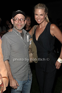 Bob Balaban and Christie Brinkley attend a reading of Columbus & Amsterdam by Eugene Pack at Guild Hall in East Hampton. (August 17, 2012) photo credit: Rob Rich/SocietyAlllure.com