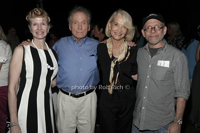 Martha Rogers, Dick Cavett, Ruth Applebaum, and Bob Balaban attend a reading of Columbus & Amsterdam by Eugene Pack at Guild Hall in East Hampton. (August 17, 2012) photo credit: Rob Rich/SocietyAlllure.com
