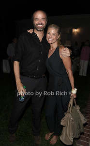 Scott Adsit and Christie Brinkley attend a reading of Columbus & Amsterdam by Eugene Pack at Guild Hall in East Hampton. (August 17, 2012) photo credit: Rob Rich/SocietyAlllure.com