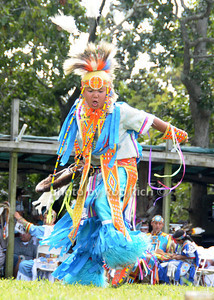 Child dances at  the 66th.Annual Shinnecock Pow Wow at the Shinnecock Indian Reservation in Southampton. (Septemeber 3, 2012) photo credit: Rob Rich/SocietyAllue.com