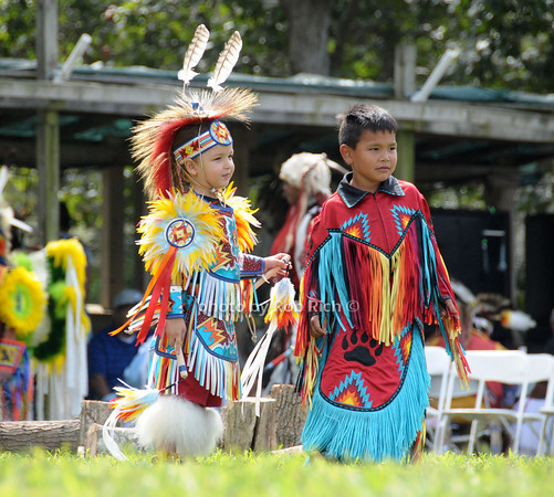 Children dance at  the 66th.Annual Shinnecock Pow Wow at the Shinnecock Indian Reservation in Southampton.<br /> (Septemeber 3, 2012)<br /> photo credit: Rob Rich/SocietyAllure.com