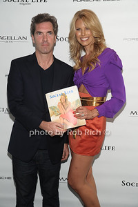 5-26-2012: Publisher Justin Mitchell and Beth Ostrosky Stern  and Howard Stern attend the Social Life Magazine Cover Party for Beth Ostrosky Stern at a private residence in Watermill.   Rob Rich/SocietyAllure.com
